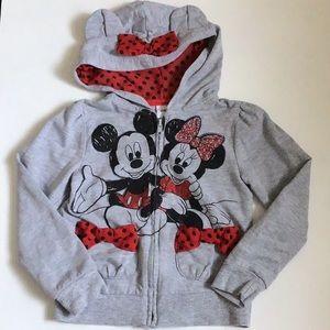Mickey and Minnie Zipped Hoodie